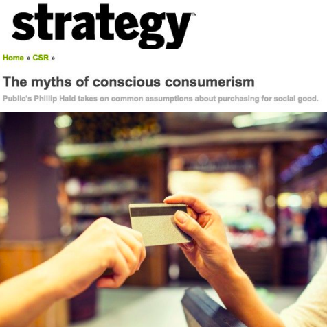 The myths of conscious consumerism