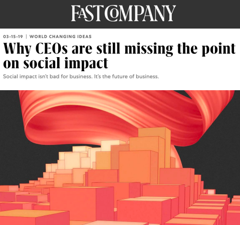 Why CEOs are still missing the point on social impact